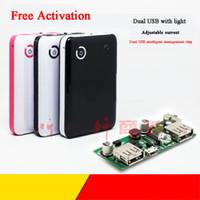 tabletler için kitler toptan satış-18650 Mobil Güç Kutusu Kiti Çift USB 2A 5 V Güçlendirici Kurulu Cep Telefonu Tablet Pil Tabanı