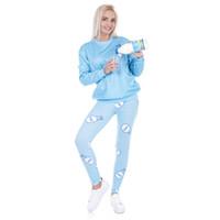 mavi süt tozlukları toptan satış-Lady Tayt Süt Sky Blue 3D Dijital Tam Baskılı Rahat Yoga Pantolon Kız Koşucu Spor Kalem Fit Kadınlar Spor Kalem Pantolon (Y43462)