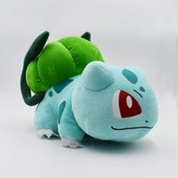 Wholesale bulbasaur plush for sale - Group buy 35 CM Big Size Cute Bulbasaur Plush Doll PP Cotton Cartoon Peluche Pillow Toys For Children Birthday Gift Y200703