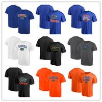 xxxl mascote venda por atacado-Florida Jacarés Midnight Mascot Zona Neutra Verão T-Shirt de Manga Curta Tee camisa gola Redonda T shirt frete grátis