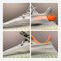 neue beste schuhe  groihandel-2020 new Yeehu yecheil black static 3M Reflective kanye west running shoes gid glow true form clay butter men women designer sneakers