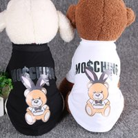 Wholesale dog hat large for sale - Group buy Original Japanese and Korean dog clothes summer pet heat transfer method fighting bull Chihuahua T shirt dog summer vest Pet dog clothing