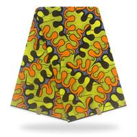 robes africaines en cire achat en gros de-Tissu africain véritable impression de cire 2019 Dernier tissu africain de cire hollandais pour la couture matériel coton 2019 New Holland H90421