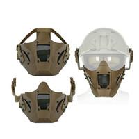ingrosso utilizzare per il ferro-New Iron Warrior Half Face Mask Cs Sling Use con casco rapido Protect Cycling