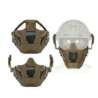 bisiklet yarım yüz maskesi toptan satış-Yeni Demir Savaşçı Yarım Yüz Maskesi Cs Sling Hızlı Kask Koruyun Bisiklet Kullanımı Ile Kullanın