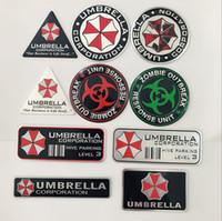 guarda-chuvas 3d venda por atacado-2019 Moda Car styling 3D Liga de Alumínio Corporação Umbrella adesivos de carro Resident Evil decalques emblema emblema decorações