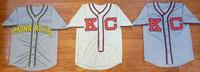 boş beyaz siyah beyzbol mayosu toptan satış-Özelleştirme Jackie 5 Robinson Beyzbol Forması Erkek Kansas City Monarchs Cooperstown koleji Bad Boy Jersey Nakış Beyaz siyah