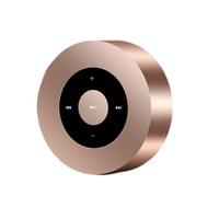 Wholesale speaker volume controls resale online - Creative Portable Wireless Bluetooth Round Metal Portable Speaker Support Portable Music Sound Box Playing Volume Control Speaker