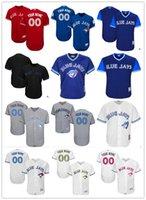 jay azul venda por atacado-2019 personalizado Toronto Blue Men mulheres juventude Majestic Jays Jersey # 00 Qualquer seu nome e seu número casa azul cinza branco crianças Baseball Jerseys