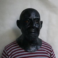 Wholesale black mask face for sale for sale - Group buy 2019 New Products High Sales Movie Black Man Full Face Mask For Halloween Party Decoration Cosplay head mask crossdress skin mask fancy