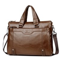 Wholesale briefcase compartments resale online - 2019 men s shoulder messenger bag Men Business Briefcase bag for laptop computer man s bag handbag briefase male messenger