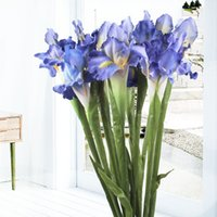 Wholesale iris flowers for sale - Group buy 5pcs White Iris Artificial Flower Decorative Fake Flowers Display Silk Flower for Home Wedding Decoration