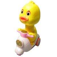 jouet de moto moulé sous pression achat en gros de-Bonne canard voiture jouet ABS Diecast Mini Cartoon mignon Tirez moto cadeau Jouets pour enfants Cadeau d'anniversaire
