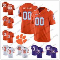 NCAA Clemson Tigers 2019 Football Jerseys  60 Bobby Gettys 75 Mitch Hyatt   80 Milan Richard 22 Will Swinney Drew 81 Purple White Orange 8fec26065