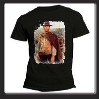 ropa occidental al por mayor-2018 Ropa Tees Casual Hombres cortos Unisex Clint Eastwood Western O-Neck Fashion 2018 Camisetas