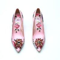 ingrosso scarpe nuziale nuziale in vendita-Vendita calda-Rosa Bianco da sposa strass scarpe tacco a spillo ragazze tacchi alti Abito scarpe