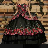 Wholesale long sleeve formal dresses for sale - 2019 Romantic Off The Shoulder Evening Dresses Print D Flowers Appliques A Line Tiered Skirts Formal Occasion Prom Party Dresses Custom Mad
