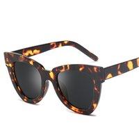 leopard eyewear großhandel-Cat eye sonnenbrille frauen männer marke designer leopard sonnenbrille mode spiegel uv400 rosa sunglass cateye shades brillen