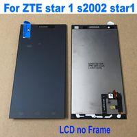zte one venda por atacado-100% Melhor LCD de Trabalho Tela de toque digitador Assembléia + Quadro Para ZTE estrela 1 S2002 star1 Estrela Repair Um telefone