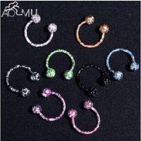 Wholesale 18g lip jewelry for sale - Group buy 8pcs Set G G Nose Septum Ring Lip Nipple Eyebrow Lobe Rings Hoop Horseshoe Ear Piercings Stainless Steel Body Jewelry