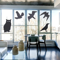 Wholesale window sticker birds resale online - pestcontrol Bird Repellent Window Alert Bird Decals Devices Pest Control Stickers Anti Colision Shade Scarer Countless
