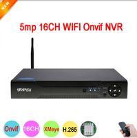 ingrosso cctv 16 sistemi di telecamere-Sistema di sorveglianza 5mp Telecamera CCTV NVR Telecamera IP Pannello Dahua Hi3536D XMeye H.265 + Audio 5mp 16CH 16 canali Onvif IP WIFI CCTV NVR