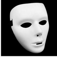 neue kostüme für männer großhandel-Cosplay Halloween Festival PVC Weiße Maske Party Spielzeug Einzigartige Full Face Dance Kostüm Maske für Männer Frauen für Geschenk Heiße Neue