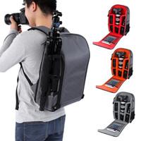 складывание штатива оптовых-Складная сумка для фотокамеры Противоугонная Водонепроницаемая цифровая фотокамера Рюкзак 15,6
