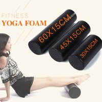 Wholesale yoga foam block resale online - roller stand EPP Yoga Gym Exercise Fitness Massage Equipment Foam Roller Block Muscle Relaxation Physical Therapy Black cm cm inches
