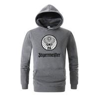 Wholesale swag sweatshirt red resale online - Brand Men s Jagermeister Print Fleece Hoodies Sweatshirts Winter Unisex Hip Hop Swag Sweatshirts Hoodies Women Hoody Clothes D