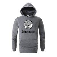 женская толстовка печать оптовых- Men's Jagermeister Print Fleece Hoodies Sweatshirts Winter Unisex Hip Hop Swag Sweatshirts Hoodies Women Hoody Clothes 3D