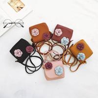 mochila menina flor menina venda por atacado-2019 novas meninas kid crossbody flores bolsa de couro acessórios de moda