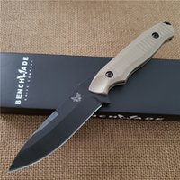 Wholesale Butterfly knife BM BKSN Plain Blade Fixed Blade Outdoor Camping Survival Knife Pocket Survival EDC Knives Best knifes