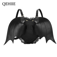 Wholesale school package for sale - Group buy Women Backpack Bat Wing Backpack Punk Stylish Newest School Bag for Girls Bat Bag Angel Wings Cute Little Devil Package