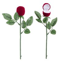 Rose Jewelry Gift Box Romantic design Red Rose Engagement Wedding Pendants Jewelry Gift Box Ring Earrings work well