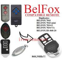 llave del controlador remoto de la pc al por mayor-2 piezas de control remoto BELFOX 7843, BELFOX 7843-mini, 7834-E, 7834-VA, reemplazo remoto de la puerta de garaje HS-868-20 Envío gratuito
