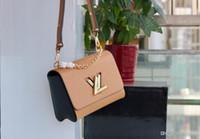 Wholesale women sling chain bag for sale - Group buy 19FW Elegant Women Shoulder Messenger Bag Rivet Flap Purse Bags for Lady Classic Simple Female Crossbody Sling Bag YECQ4