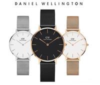 dw часы оптовых-3D Curve New Daniel Wellington часы мужские роскошные часы DW 40 мм мужские женщины 32 мм кварцевые часы Тонкий стальной ремешок Relogio Montre Femme