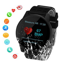 Wholesale watch monitor belt resale online - SUNROAD Smart Sports Watch Blood Pressure Heart Rate Monitoring Pedometer Digital Watch With IP67 Waterproof Message Reminder LY191213