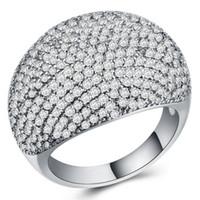 hochzeit bands kupfer großhandel-berühmte designer marke paar trauringe Band Ringe für Luxus sternenring voller zirkon kupfer vergoldet silber modeschmuck ring