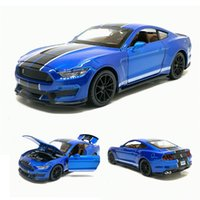 Wholesale shelby cars resale online - 1 SHELBY GT350 Sports Car Simulation Toy Car Model Alloy Pull Back Vehicle Genuine License Collection Children Toys Gift Y200109
