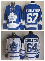 ingrosso foglia di acero-1964 Toronto Maple Leafs # 64 Stanley Cup Jersey Vintage CCM Classic 1967 Maple Leafs Stanley Cup Hockey Maglie cucite Top Quality