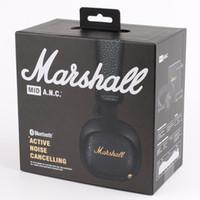 cancelación de ruido de bajos auriculares al por mayor-Marshall MID ANC Auriculares Bluetooth Cancelación de ruido activa Auriculares para DJ Deep Bass Gaming Headset para iPhone Teléfono inteligente