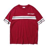 ingrosso angeli tessono-2019 New Palm Angel Angel New Weave Bandwidth Pine Stampa T-shirt a maniche corte per uomo e donna