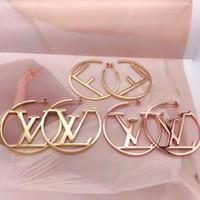top cadeaux de noel pour les femmes achat en gros de-Nouvelle arrivée Hip Hop Style de bijoux de qualité supérieure en acier inoxydable 3 couleurs plaqué or Boucles d'oreilles pour les femmes Cadeaux de Noël prix de gros
