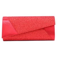 Wholesale gold elegant evening bag for sale - Group buy Solid Shinny Envelop Bags Women Wedding Evening Clutch Bag Elegant Business Handbags Fashion Party Pouch Purse Designer Female