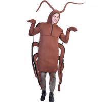 trajes de cola marrón al por mayor-Ropa Cucaracha impresión de Halloween de Cospaly divertido diseño en trajes de la mascota de la comida rápida Festival de Moda Unisex Estilo fresco Casual