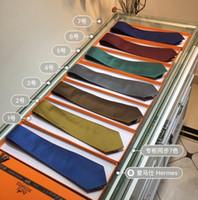 ingrosso seta usata-La cravatta da uomo Fashion Business può essere utilizzata anche come cravatta fatta a mano in twill di seta