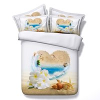 Wholesale queen hearts bedding king for sale - Group buy 3D ocean beach theme Bedding Sets full sloth Duvet Cover dolphins bedspreads Bed Linen kids twin for girls heart love wedding Pillow Shams