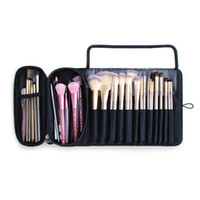 Wholesale roll brush pouch resale online - Mutifunctional Cosmetics Case Makeup Brushes Bag Travel Organizer Makeup Tools Rolling Pouch TUE88